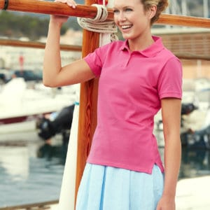 663b2cd4aae Fruit of the Loom Lady-fit Polo SS560