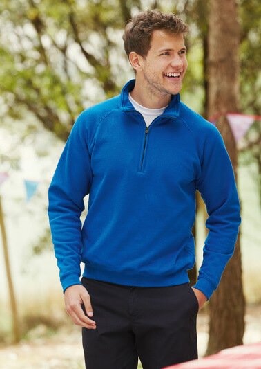 Fruit of the Loom zip neck sweatshirt