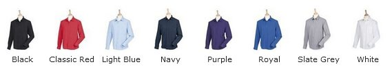 HB590 Wicking antibacterial long sleeve shirt colours