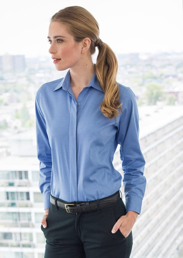 Women's long sleeve lightweight Oxford