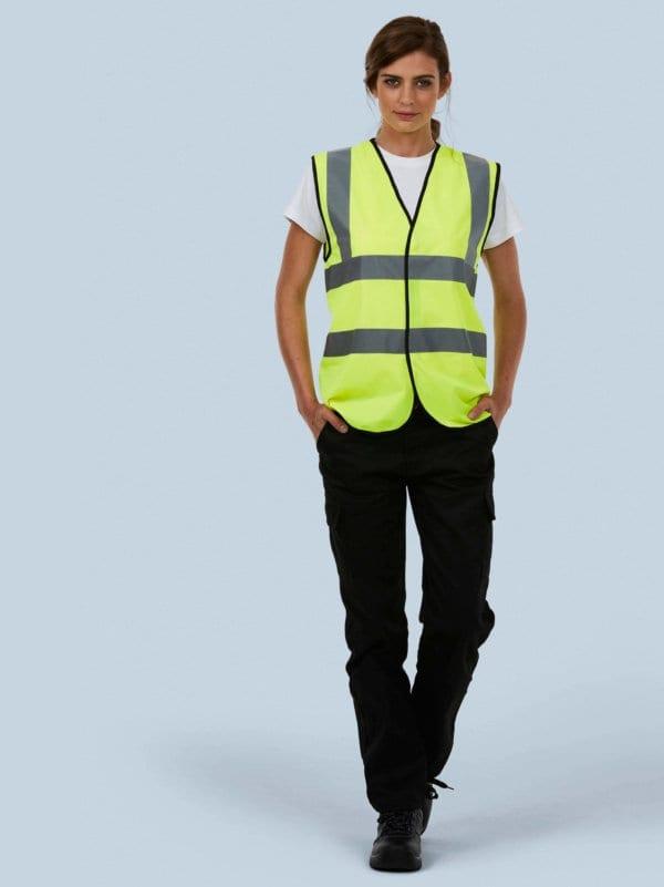 UC801 HiViz Sleeveless safety waistcoat