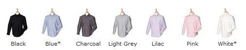 HB510 Henbury shirt colours